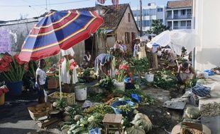Un marché à Fort-de-France (illustration)