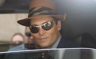 """L'acteur Johnny Depp sur le trounage du film """"The Rum Diary"""" à Puerto Rico, le 1er avril 2009."""
