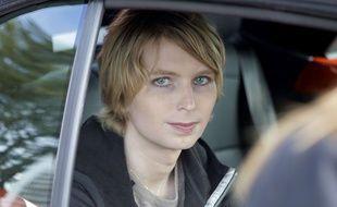 Photo d'archives du 17 septembre 2017,montrant  Chelsea Manning après le rassemblement annuel du Nantucket Project, dans le Massachusetts.