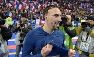 Franck Ribéry à l'issue du match contre l'Ukraine le 19 novembre 2013 au Stade de France à Saint-Denirs