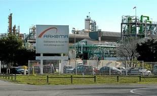 L'entrée de l'usine Arkéma, à Fos-sur-Mer.