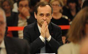 Le nouveau maire Robert Ménard lors du premier conseil municipal le 4 avril 2014 à Béziers