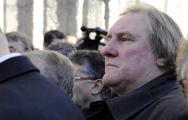Gérard Depardieu, lors des funérailles de Georges Frêche, en 2010