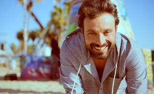 Bruno Salomone, à Venice Beach, à Los Angeles, pour le tournage de Sharknado 3, le 7 mars 2015.