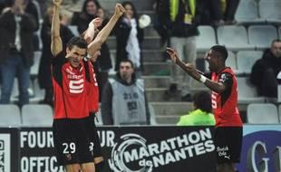 Le défenseur de Rennes Romain Danzé lors du match contre Nantes  le 23 février 2014.