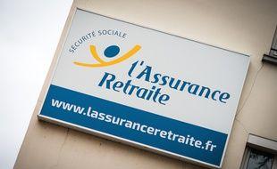 Un panneau de l'Assurance retraite, le 13 janvier 2020 à Paris. (19e)