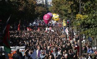 Manifestation le 21 septembre à Paris contre la réforme du Code du travail.