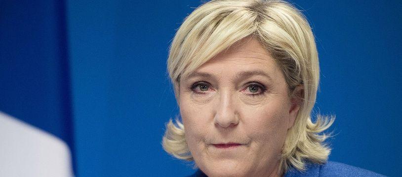Marine Le Pen, présidente du Front national, le 15 janvier 2018 à Nanterre