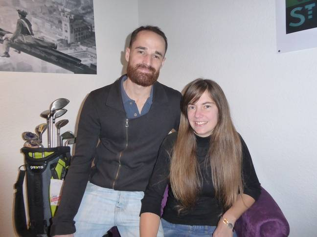 Damien Henaff et Caroline Itié, les fondateurs de «Here we golf» au centre-ville de Toulouse.