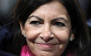 Anne Hidalgo , le 27/2/2018. PHOTO / POOL AND AFP PHOTO / ludovic MARIN
