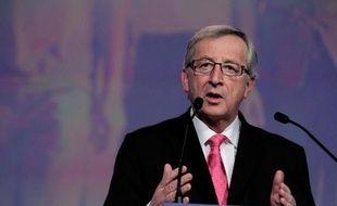 Le candidat du centre droit à la présidence de la Commission européenne Jean-Claude Juncker lors du vote du PPE à Dublin le 7 mars 2014