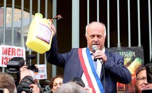 Le maire de Langouët Daniel Cueff, ici le 14 octobre 2019 devant le tribunal administratif de Rennes pour défendre son arrêté anti pesticides.