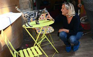 Marine Le Pen en septembre dernier à Villefranche-Saint-Phal dans l'Yonne