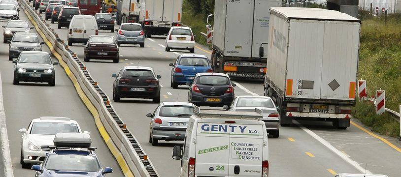 Illustration d'un embouteillage.