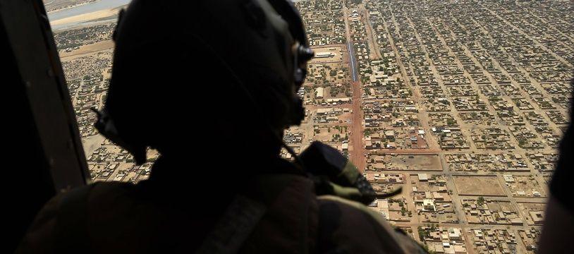 Un soldat français de la force Barkhane, au Mali le 19 mai 2017.