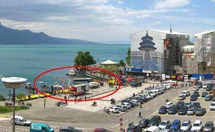 Un bus qui avait fini sa course au fond du lac Léman a pu en être sorti, ce 3 juin 2013