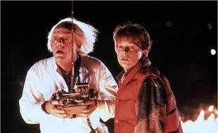 Doc Emmett Brown et Marty McFly dans «Retour vers le Futur».
