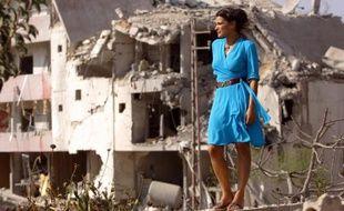 """L'actrice libanaise Nada Abou Farhat dans """"Sous les bombes"""" (2008), un film de Philippe Aractingi"""