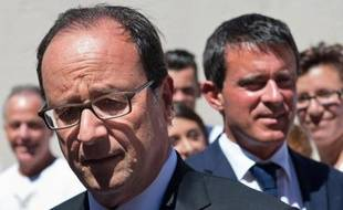 François Hollande et Manuel Valls le 15 août 2014 au Fort de Bregançon