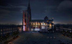 Le spectacle «Lumière intemporelle» sur la cathédrale de Strasbourg termine le 18 septembre. Photo ACT Lighting Design.