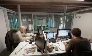 Strasbourg le 31 01 2014. Le biocuster des Haras de strasbourg. Le must des pépinières d'entreprise