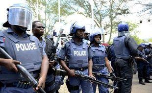 Des membres de la police en Afrique du Sud.