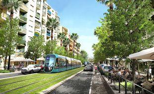 Les rames doivent circuler sur l'avenue Maréchal-Juin, à Cagnes-sur-Mer