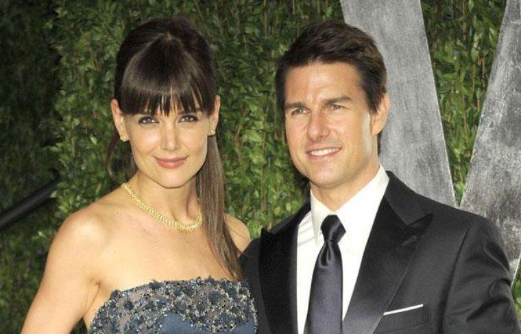 Katie Holmes et Tom Cruise à la soirée Vanity Fair le soir de la cérémonie des Oscars, le 26 février 2012.