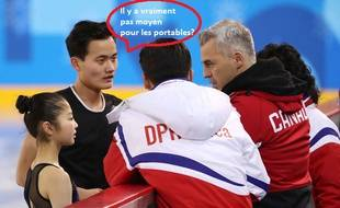 Les patineurs nord-coréens à Pyeongchang.