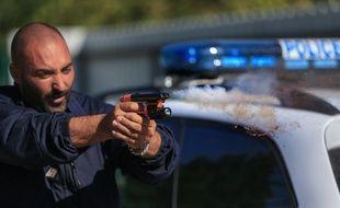 Strasbourg le 30 septembre 2015. Pistolet au poivre de l'unité canine départementale de la police nationale.