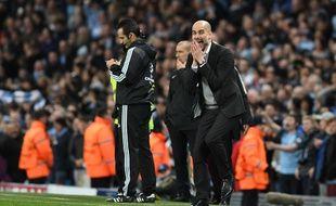 Pep Guardiola est passé par tous les états lors de la victoire de Manchester City contre Monaco (5-3) en 8e de finale aller de la Ligue des champions, le 21 février 2017.