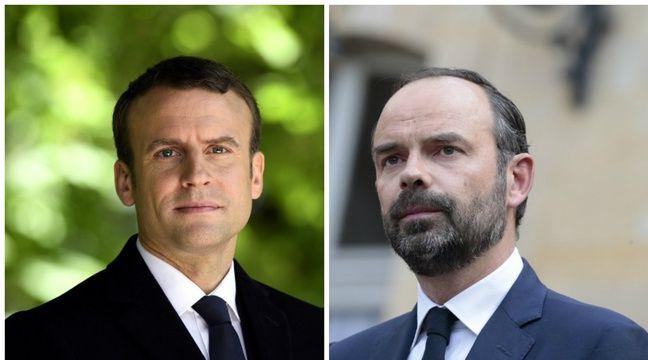Collage AFP du président Emmanuel Macron et du Premier ministre Edouard Philippe – AFP