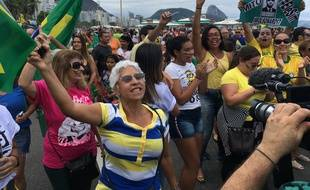 Manifestation pro-Bolsonaro à  Copacabana, Rio de Janeiro, 29 septembre 2018.