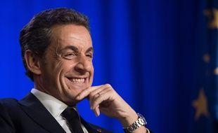 Nicolas Sarkozy lors d'un meeting à Asnières-sur-Seine, le 24 mars 2015.