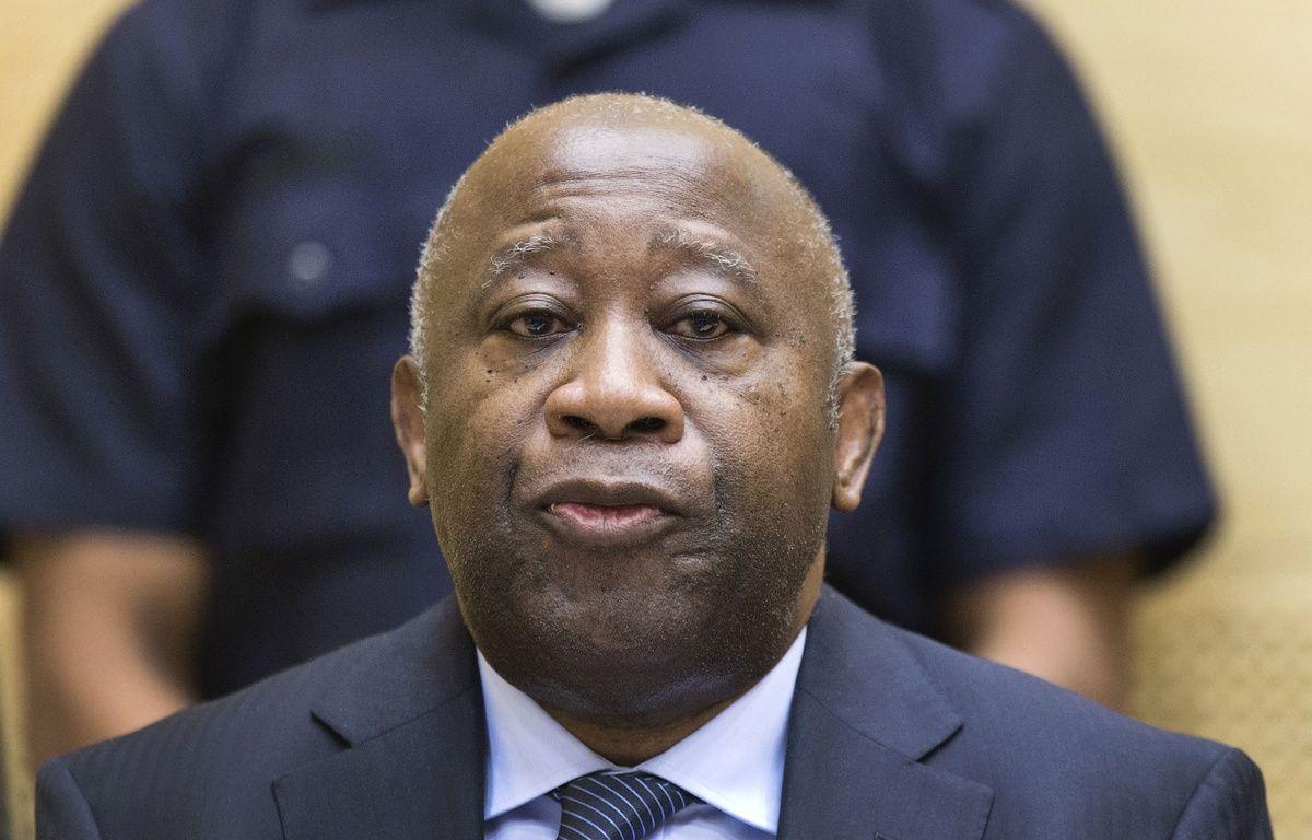 L'ancien président de la Côte d'Ivoire, Laurent Gbagbo, le 19 février 2013, lors d'une audience préliminaire devant la Cour pénale internationale. – AFP