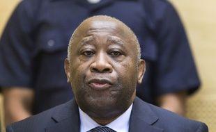L'ancien président de la Côte d'Ivoire Laurent Gbagbo, le 19 février 2013, lors d'une audience préliminaire devant la Cour pénale internationale.