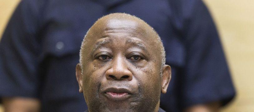 L'ancien président de la Côte d'Ivoire, Laurent Gbagbo, le 19 février 2013, lors d'une audience préliminaire devant la Cour pénale internationale.