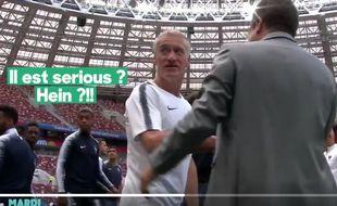 Didier Deschamps without flegme.