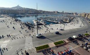 Une vue du Vieux Port de Marseille, le 7 janvier 2013