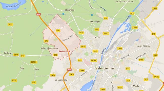 La commune de Petite-Forêt, dans le Nord. – Google Maps