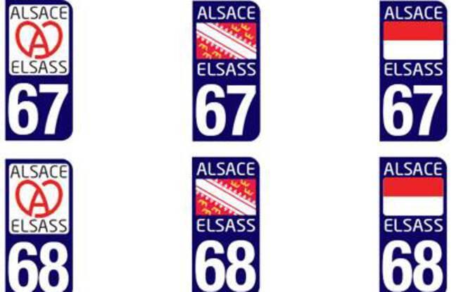 Le logo qui obtiendra le plus de suffrages deviendra le marqueur officiel des plaques d'immatriculation alsaciennes.