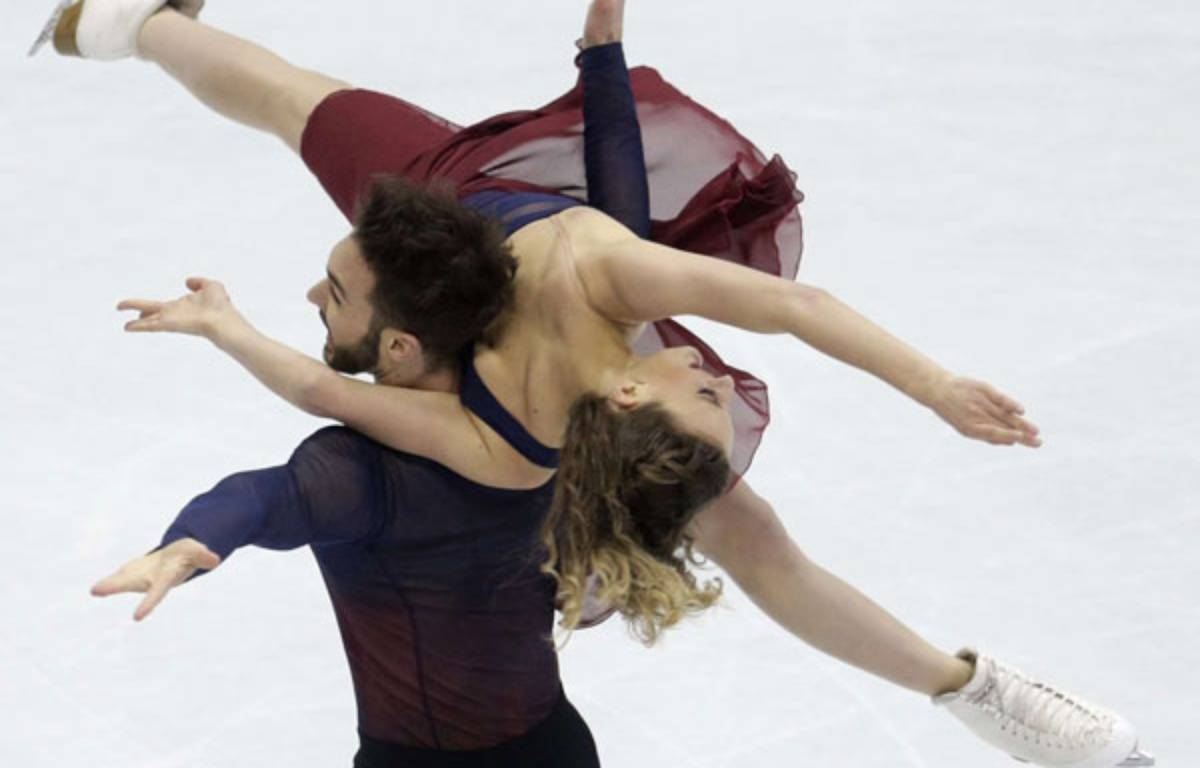 Gabriella Papadakis et Guillaume Cizeron à Bratislava.  – Petr David Josek/AP/SIPA