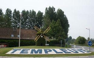 L'entrée côté Fretin de la ville de Templeuve-en-Pévèle.