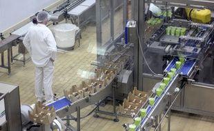 Illustration d'une usine d'agroalimentaire ici près de Rennes, en Bretagne.