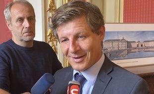 Le maire de Bordeaux, Nicolas Florian, à l'hôtel de ville le 14 octobre 2019.