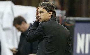 Filippo Inzaghi lors du match entre le Milan AC et le Genoa le 29 avril 2015.