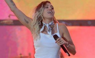 La chanteuse et actrice Miley Cyrus au Wango Tango show