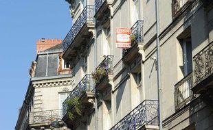 Appartement à vendre à Nantes en octobre 2011.