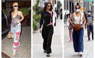 Rihanna, Bella Hadid et Katie Holmes (c'est bien elle sous le masque), ont toutes adopté la tendance plus décontracté du style baggy.