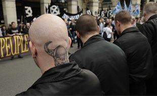 Manifestation de l'ultra droite, le 8 mai 2011, à Paris.